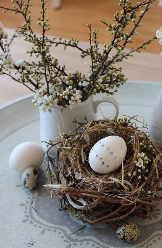 easter decor nest