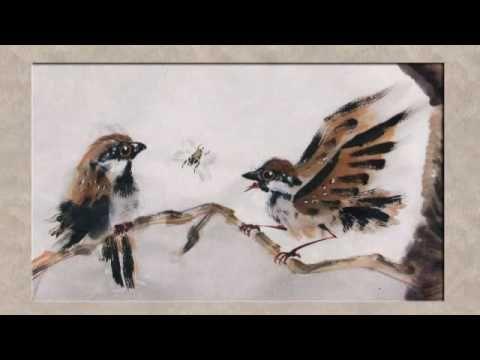 Que lindos movimentos, delicadeza, firmeza nos traços, e surge o pássaro!Lembrou-me meu Mestre Mario Watanabe! Que saudade!