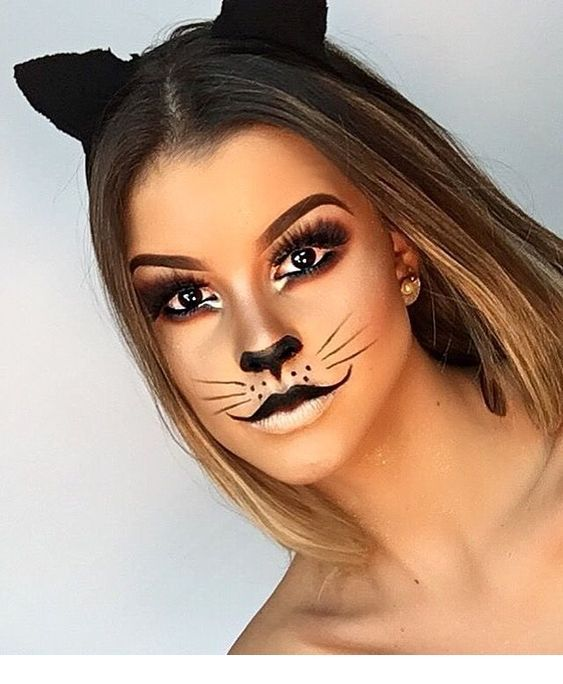 Sweet cat Hallowen Makeup \u2013 Nice Ladies