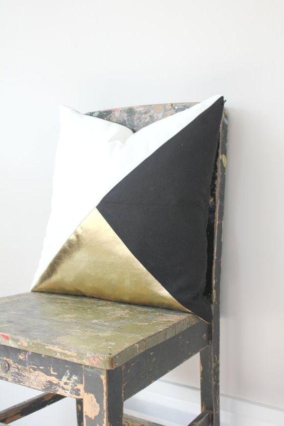geometric black white metallic gold pillow cover gorgeous home decor black and metallic gold cushion cover throw pillows cushions awesome black white
