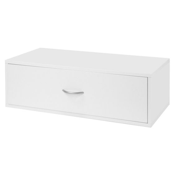 Schulte freedomRail Double Hang 1-Drawer Big O-Box - White | Organize.com- for my closet