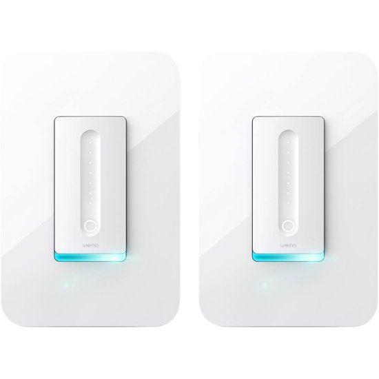 Wemo Wi Fi Smart Dimmer Switch 2 Pack White F7c059 Bdl Smart