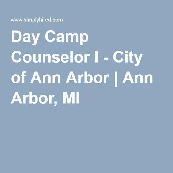 Day Camp Counselor I  City Of Ann Arbor  Ann Arbor Mi  Jobs
