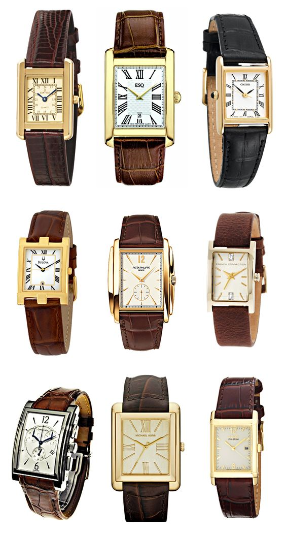 Tank Style Watches http://www.lovemaegan.com/2012/03/timeless-timepiece-cartier-tank-watch.html#