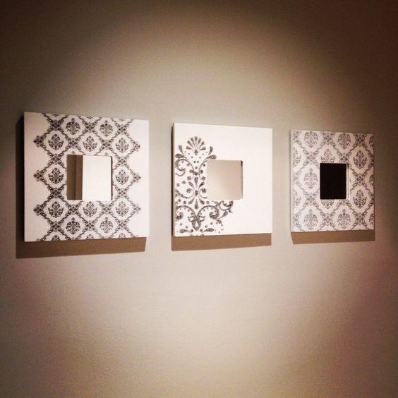Espejos con marcos decorados t cnica transfer cajas - Espejos con marco ...