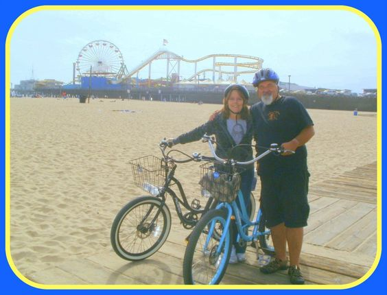 Taking the Pedal or Not Pedego electric bike tour in Santa Monica, CA.
