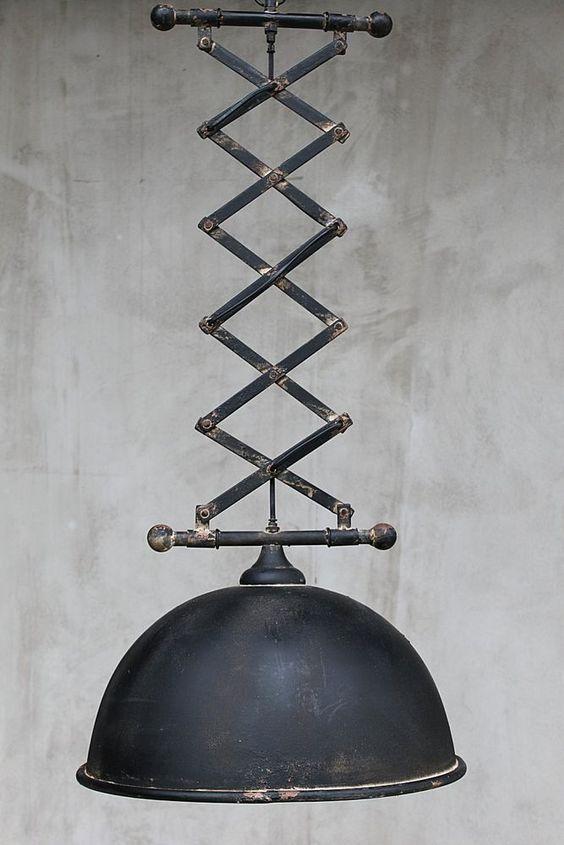 scherenarm lampe factory industrielampe shabby fabrik industrie h ngeleuchte design lamps. Black Bedroom Furniture Sets. Home Design Ideas