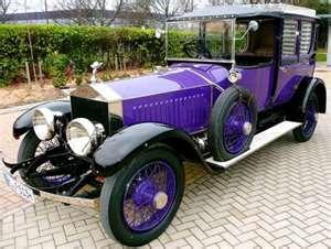 ✤ 1914 Rolls Royce | Would prefer darker purple... but still legendary