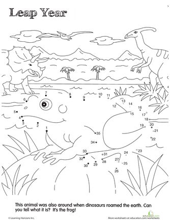 Skip Counting by 5: Frog Hop!   Frogs, Skip counting and Worksheets