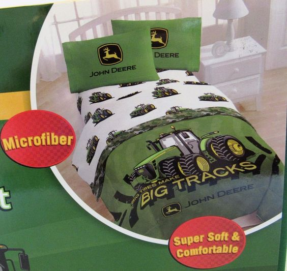 John Deere Twin Sheet Set Big Tracks Tractor Licensed #JayFrancoSons