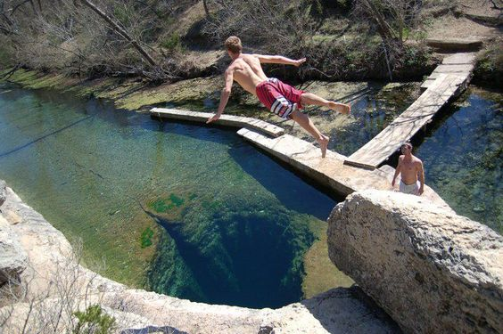 Jacob's Well ~ Cool swimming hole in Wimberly, Texas: