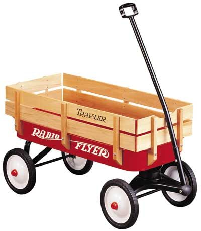 Radio Flyer Wagon (to cart them around, then they can play with it when they're older!)