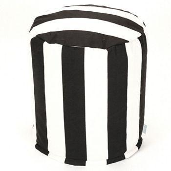 Striped Small Pouf