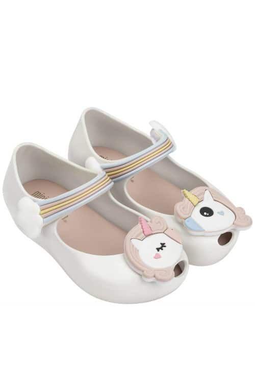 Mini Melissa Unicorn Shoes White Pink Pink Sandals Girls