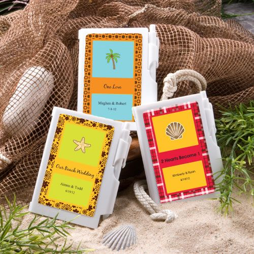 PERSONALIZED NOTEBOOK FAVORS – BEACH
