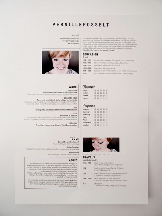 34 best Resume \ Profile images on Pinterest Cv design, Design - photography assistant resume