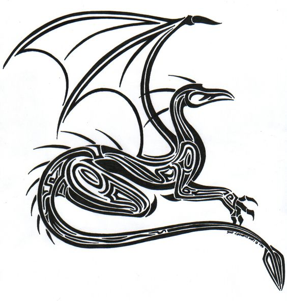 Tribal Dragon by ~L-Sway on deviantART