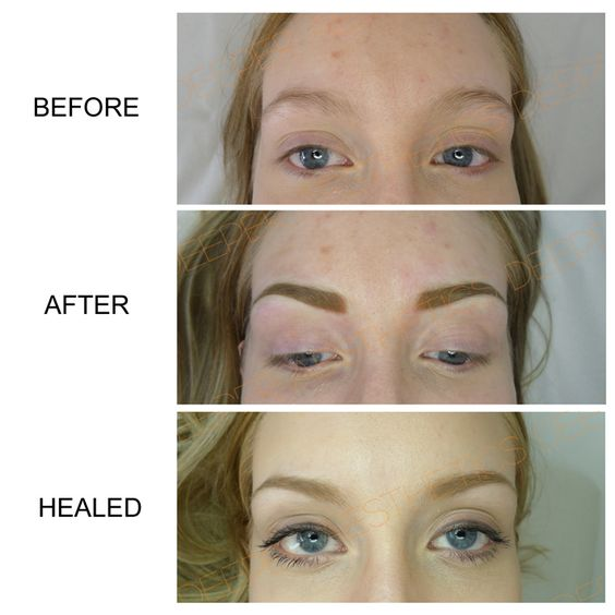 Semi permanent eyebrows by myself at deeper aesthetics for Semi permanent tattoo near me