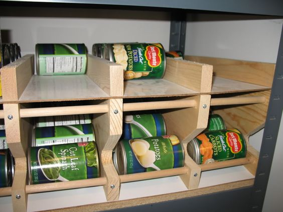 canned food storage rack ar15 com prepper pinterest shelves you think and long term. Black Bedroom Furniture Sets. Home Design Ideas