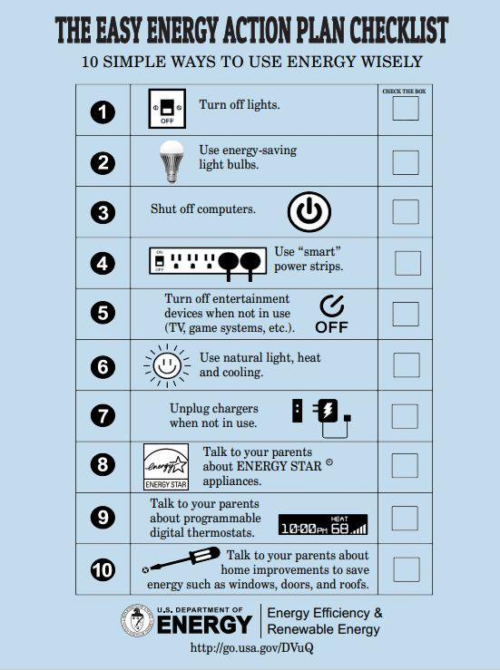 This Action Plan Has 10 Simple Ways To Use Energy Wisely For Kids. | For  The Classroom: Energy | Pinterest Part 24