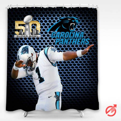 Cheap NFL CAM NEWTON DAB CAROLINA PANTHERS NFL Shower Curtain ...