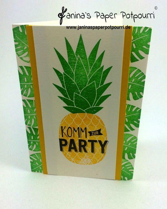 jpp - Ananas Einladung / Pineapple Invitation / Sommer / Party / Tropisch…