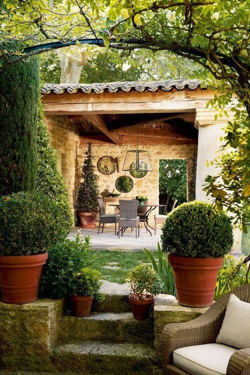 Pergola Im Garten Tuscan Garden Mediterranean Homes Tuscan Style