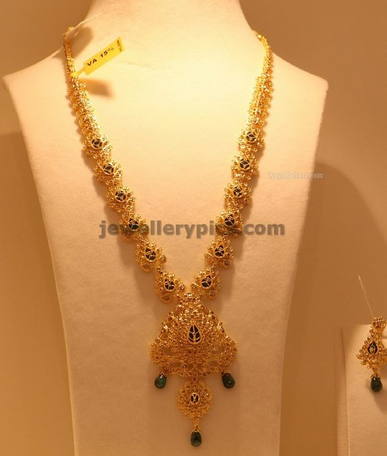 Latest Gold Haram Designs 2013 In Hyderabad