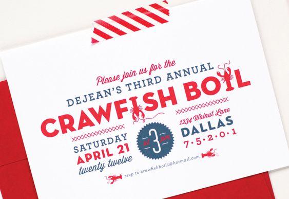 Summer Crawfish Boil Invitations