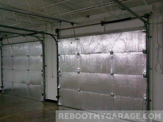 Should You Insulate The Garage Door Read This Before You Do Reboot My Garage Garage Door Insulation Kit Garage Door Insulation Door Insulation