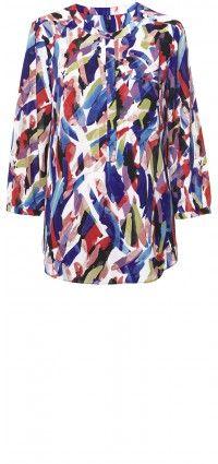 Key item lazuli strokes blouse