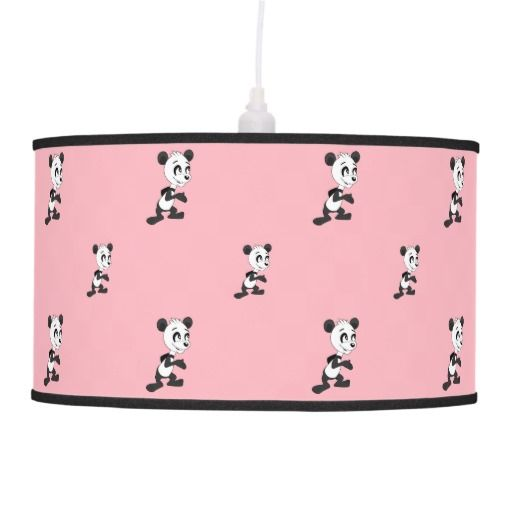 Cartoon panda pattern hanging pendant lamps