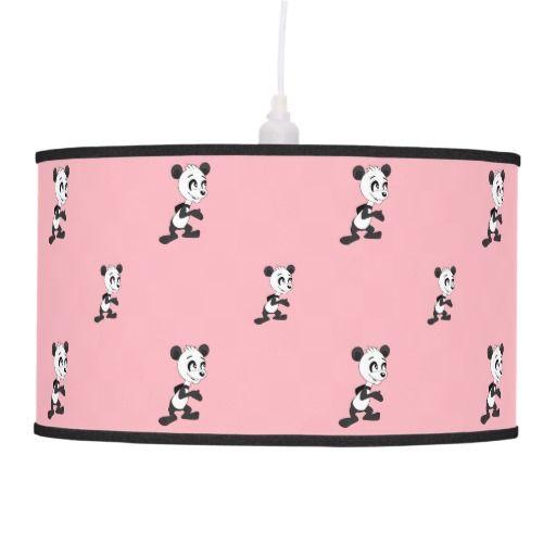 Cartoon panda pattern hanging pendant lamps