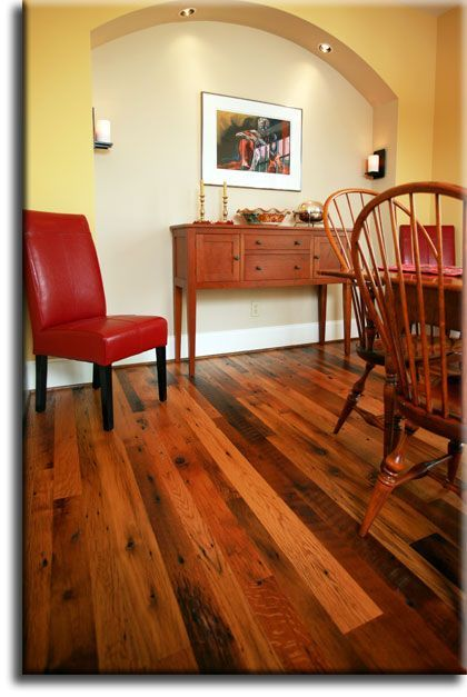 Repurposed barn wood flooring reclaimed
