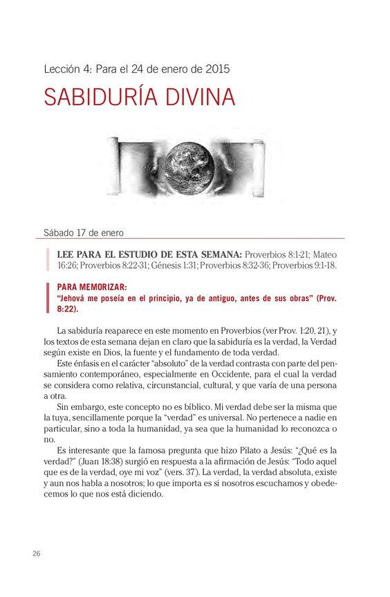 Leccion adultos Sabiduria divina by Escuela Sabatica via slideshare #LESAdv Descargue aqui: http://gramadal.wordpress.com/