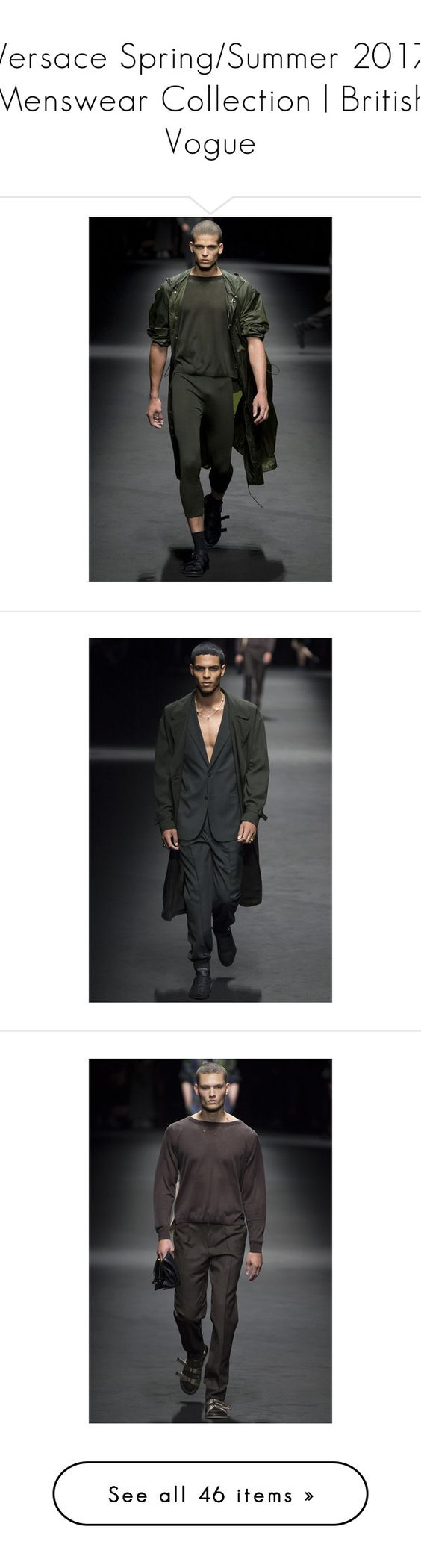"""""""Versace Spring/Summer 2017 Menswear Collection 
