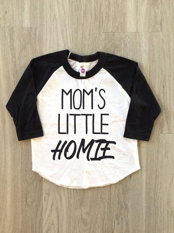 Mom's Little Homie Raglan  baby boy or girl by 8thWonderOutfitters
