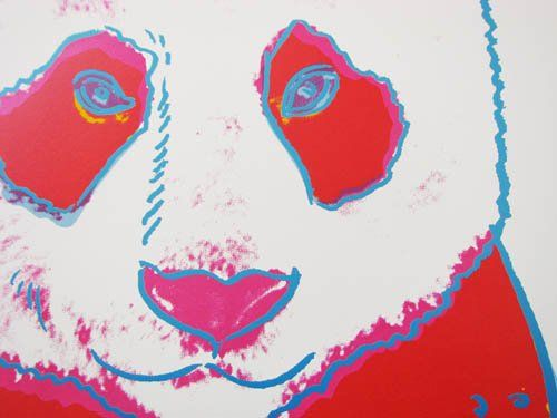 Giant Panda (detail) by Andy Warhol, 1983 | Endangered Species series