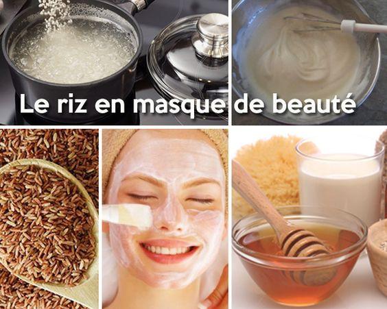 le riz a des vertus anti ge et anti acn recette de masque projets essayer pinterest. Black Bedroom Furniture Sets. Home Design Ideas
