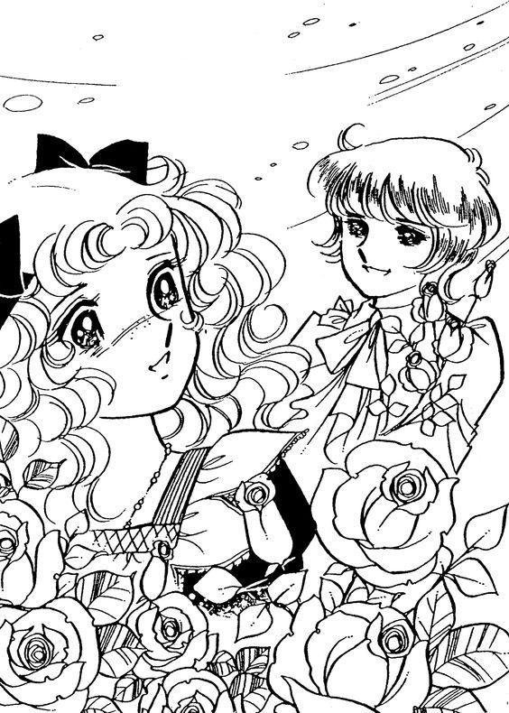 manga cartoon coloring pages - photo#42