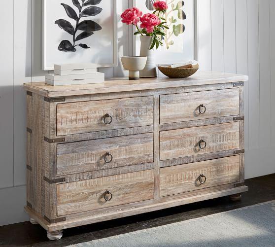 Kaplan Reclaimed Wood 6 Drawer Dresser Repurposed Furniture