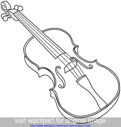music instruments clipart black and white - photo #42