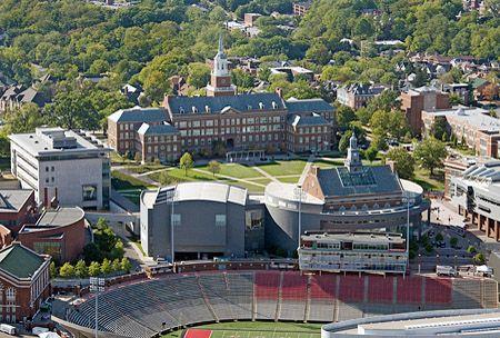 An aerial view of the University of Cincinnati campus. #uc #cincy #bearcats