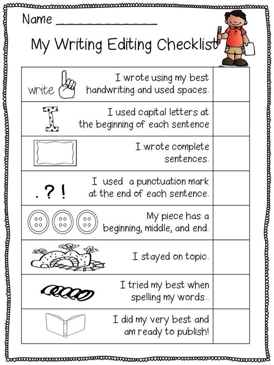 creative writing checklist