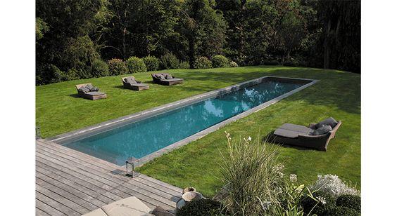 Piscine en couloir le succ s des bassins de nage journaux intimes et d coration - Piscine gris bleu perpignan ...