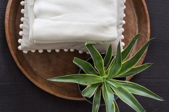 #cream #pompom #cushion and #goldtrim #lurex #throw