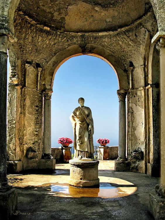 Villa Cimbrone is a historic building in Ravello, Italy on the Amalfi coast: