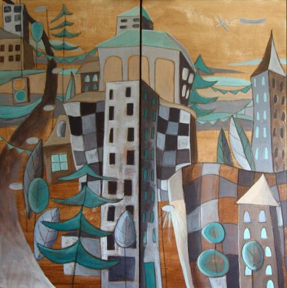 urban landscapes paintings - Google Search