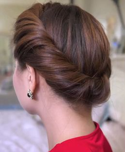 Easy Girls Hairstyles : Quick Updo Hairstyle for Long Hair: The 2 Minutes Spring Twist Hairstyle (Tutorial)