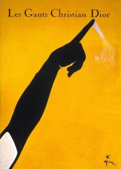 Christian Dior ad for gloves, 1948  Illustration by Rene Gruau